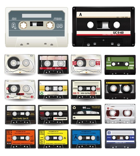Audio Cassettes Vector Collection