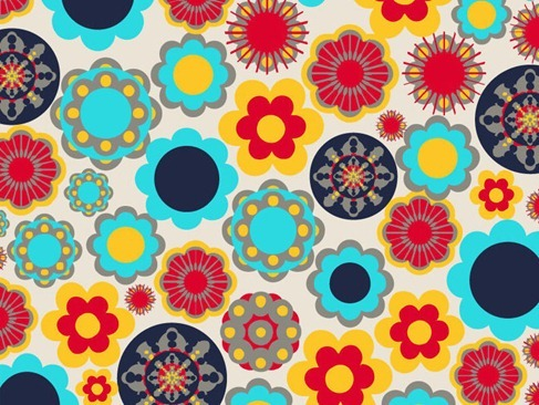 Floral Design Elements Vector Background