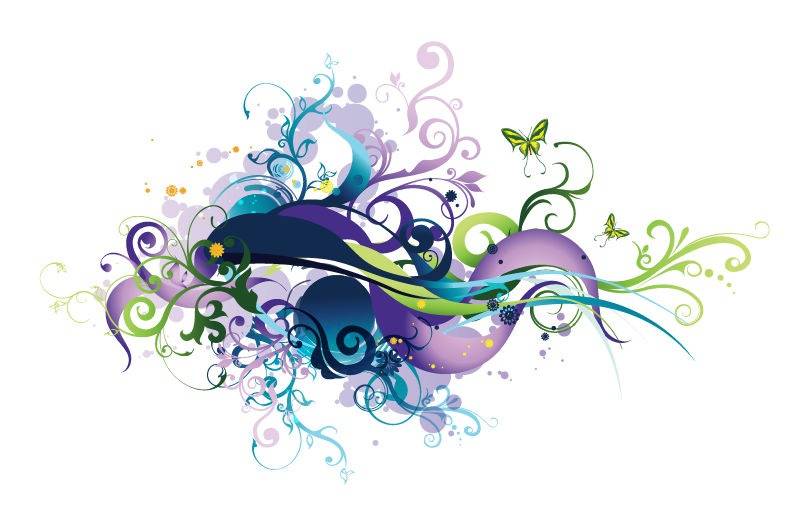 Swirl Floral Vector Graphic  Free Vector Graphics  All Free Web