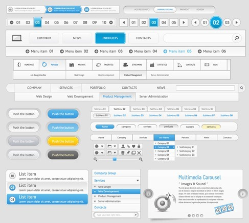 Web Design Navigation Menu Vector Pack