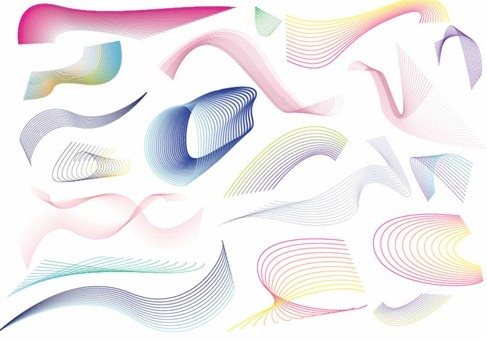 20 Lines Swirls and Patterns Vector Graphic