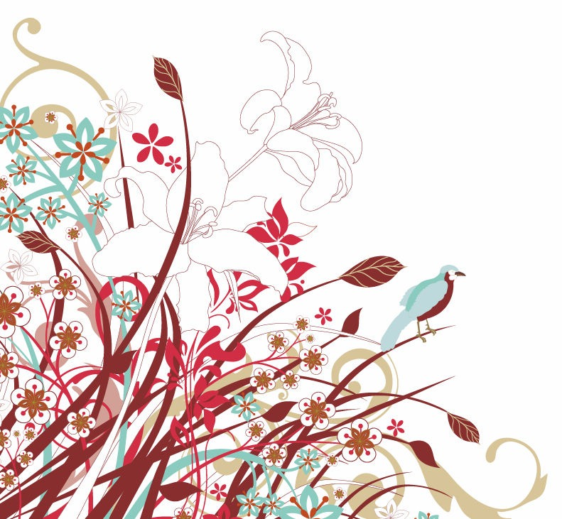 Abstract Floral Flowers Vector Graphic  Free Vector Graphics  All