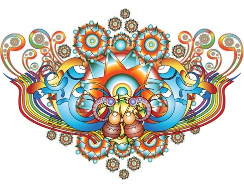 Free Color Bomb Vector Illustration