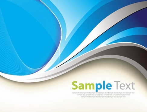 Abstract Blue Curves Vector Graphic