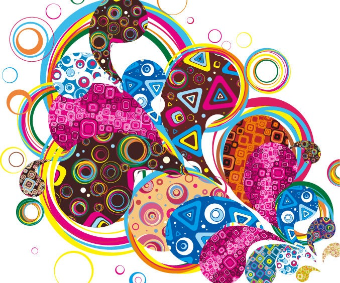 Colorful Design Abstract Vector Graphic  Free Vector Graphics  All