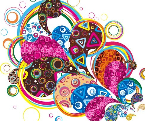 Colorful Design Abstract Vector Graphic