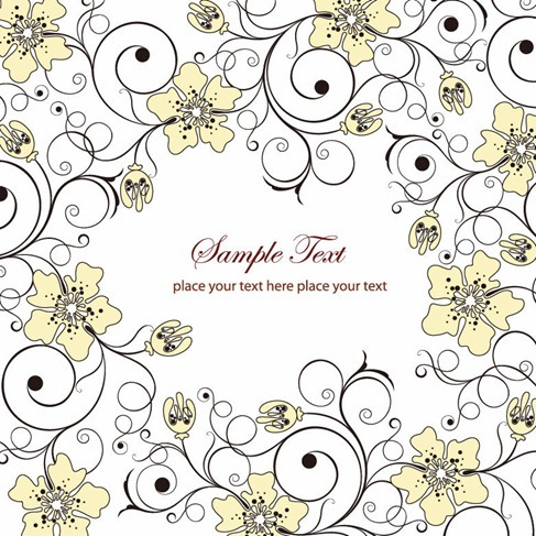 Decorative Flowers Vector Background