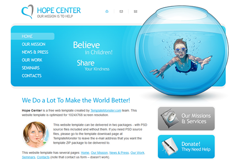 Free Charity Website Template HTML5 Preview