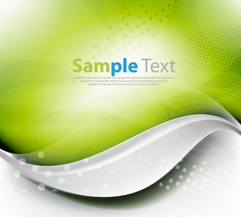 Green Wave Background Vector Graphic