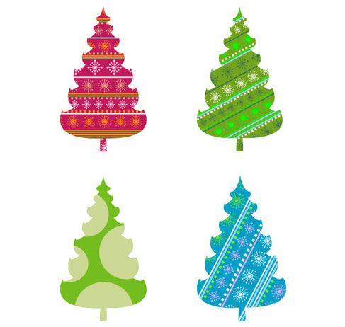 Abstract Christmas Tree Vector Graphics