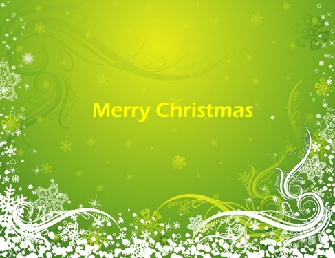 Abstract Green Christmas Background Vector Art