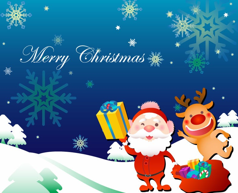 Christmas Card Vector Illustration  Free Christmas Card Email Templates