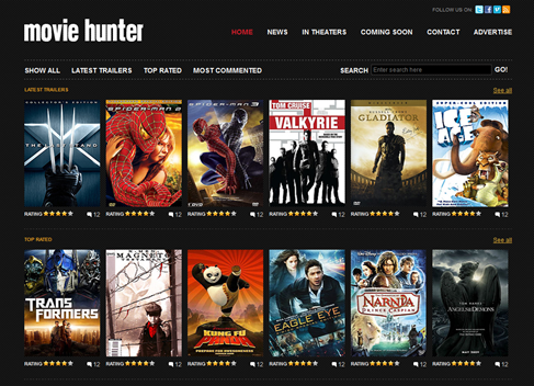 Free Website Template - Movie Hunter Preview