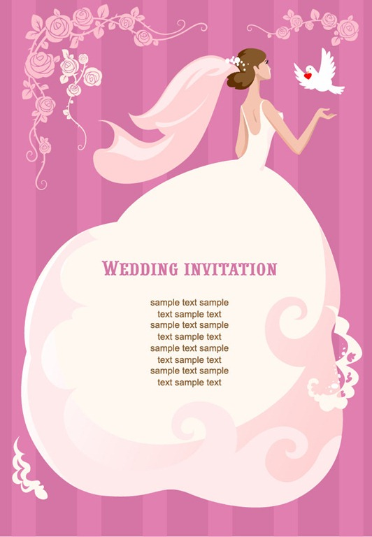 Wedding invitation vector illustration free vector graphics all wedding invitation vector illustration stopboris