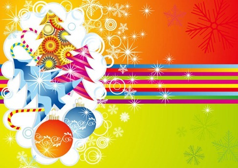Xmas Card Vector Illustration