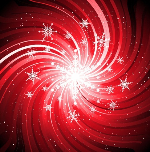 Abstract Snowflake Swirl Background Vector
