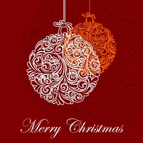 Christmas Ball Vector Graphic