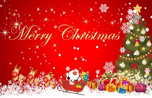 Christmas Scene Background Vector Illustration