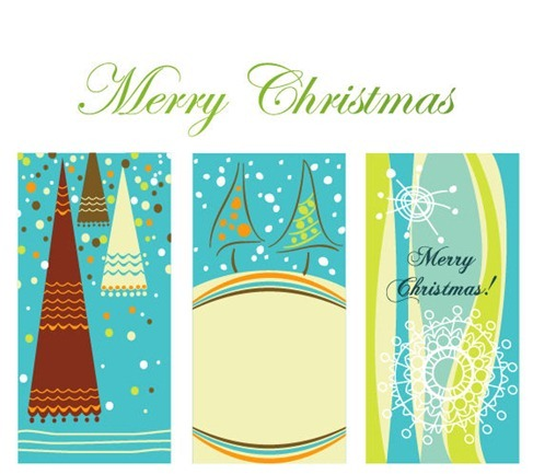 Winter Christmas Vertical Background Vector Graphic