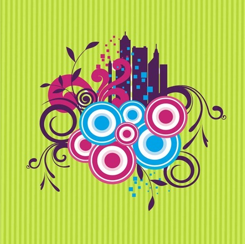 Abstract Floral Modish Design Vector Graphic