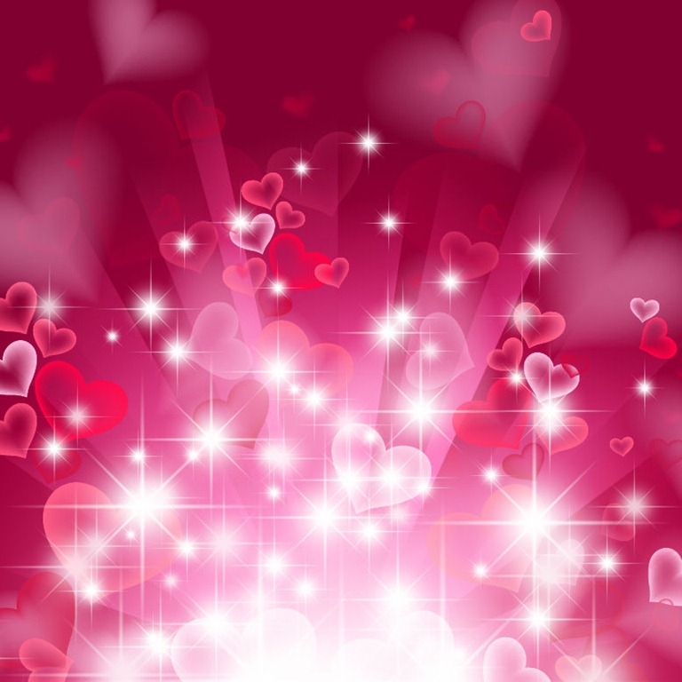 Name: Abstract Heart Background in Pink