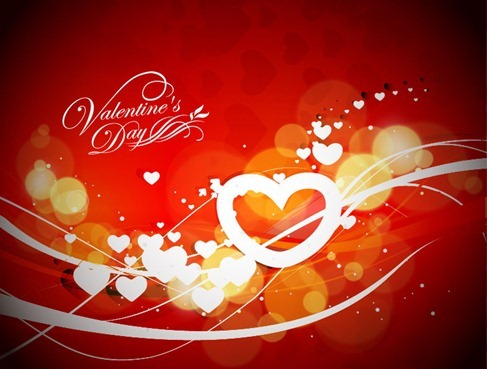Abstract Valentine's Day Vector Graphic