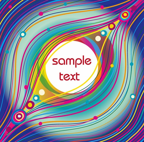 Abstract Vector Background with Colorfull Lines