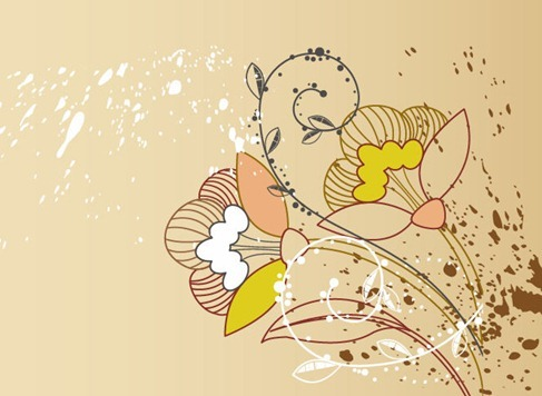 Free Floral Greeting Card Background Vector