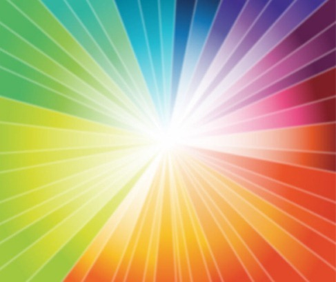 Rainbow Burst Vector Graphic