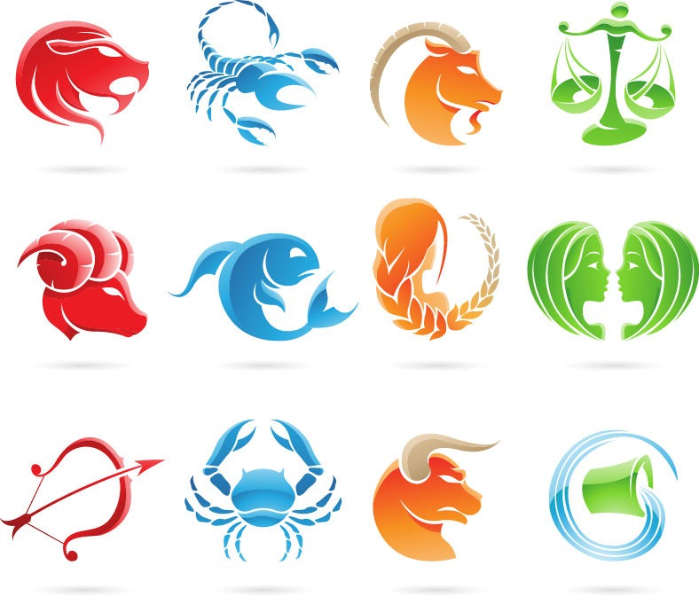 Name: Set of 12 Zodiac Signs Vector Graphic