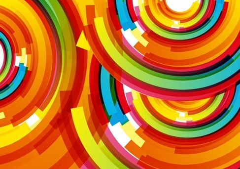 Vector Color Background Spiral
