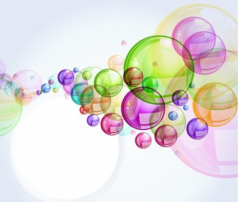 Abstract Colorful Bubble Background Vector