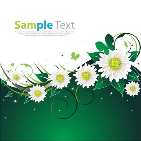 Spring Flower Green Background