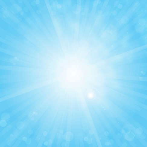 Sun on Blue Sky Vector Background