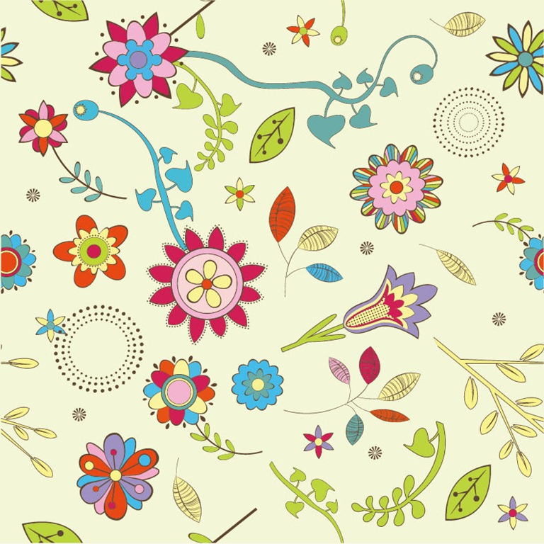 Abstract Flower Pattern Background Vector Graphic | Free ...