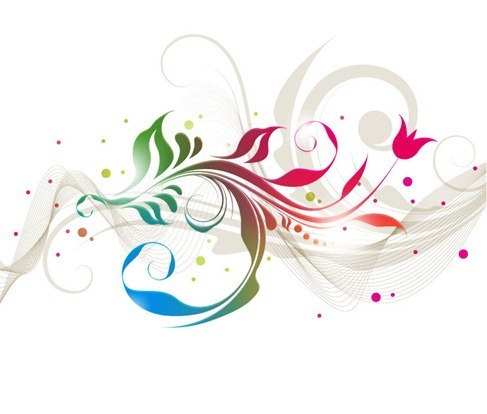 Colorful Floral Designs Vector
