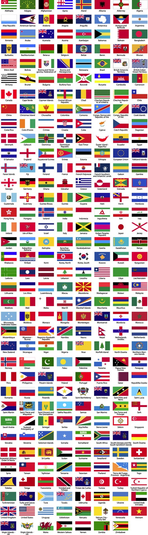 Flags-of-the-World-Sorted-Alphabetically-Preview