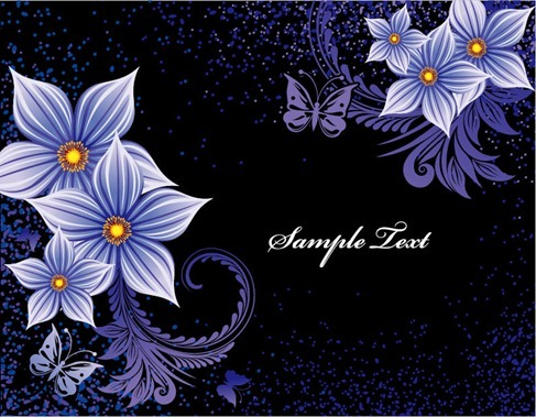 Flower Design Vector Background