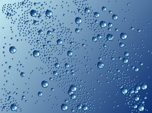 Water Drops Vector Graphic