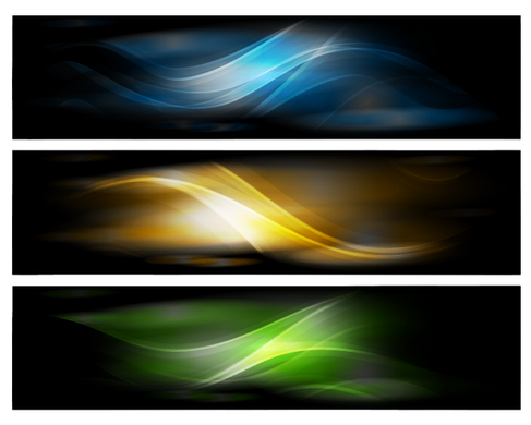Abstract Design Banners Vector Background