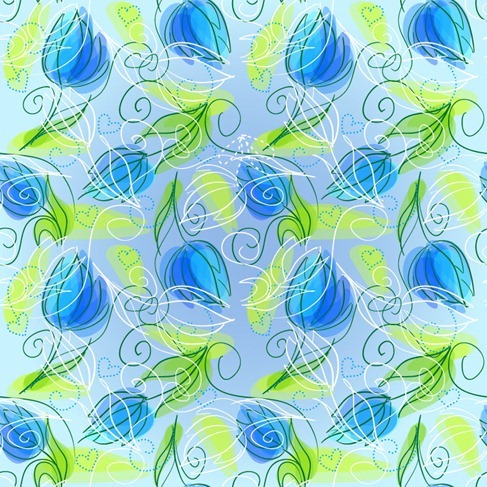 Abstract Floral Seamless Vector Background