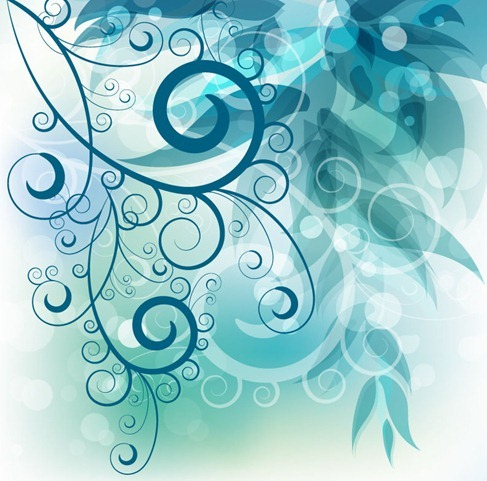 Abstract Swirl Floral Background Vector Graphic