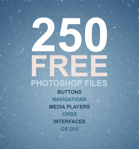 Big Button Collection 250 Free Photoshop Files preview1