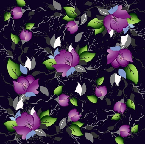 Elegance Floral Pattern Vector Background