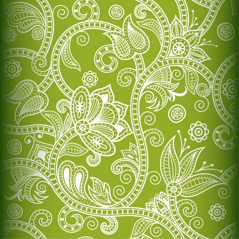 Free Seamless Floral Vector Background