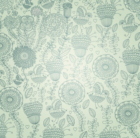 Free Vintage Floral Background