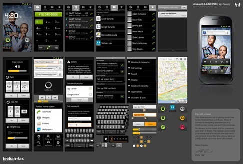 Android 2.3.4 GUI PSD High-Density