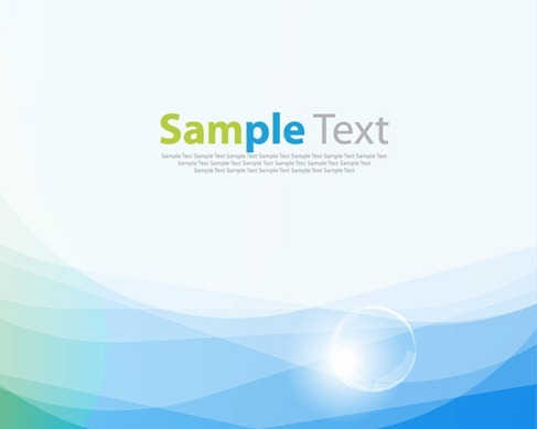Blue Smooth Wave Vector Background