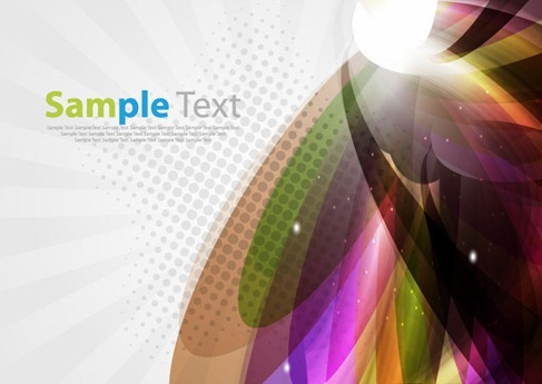 Abstract Colorful Light Background Vector Graphic