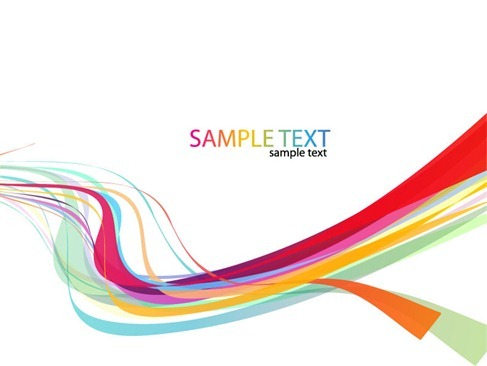 Abstract Rainbow Wave Line Vector Background